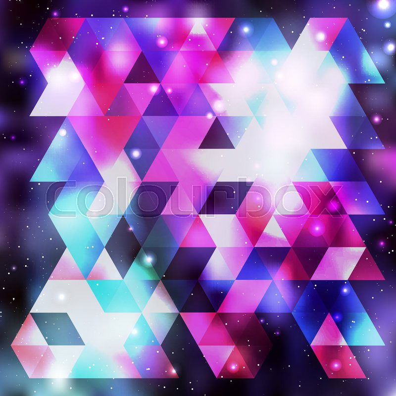 Galaxy Background Colorful Vector Illustration For Your