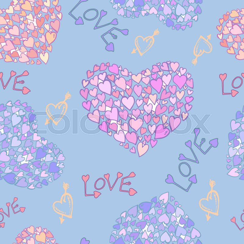 Vector seamless pattern love heart decor design greeting cards decor design greeting cards great for valentines day wedding mothers day scrapbook easter marriage gift wrapping paper social media negle Image collections