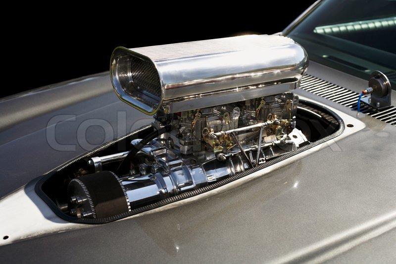 Mit Kompressor-v8-Motor.   Stockfoto   Colourbox