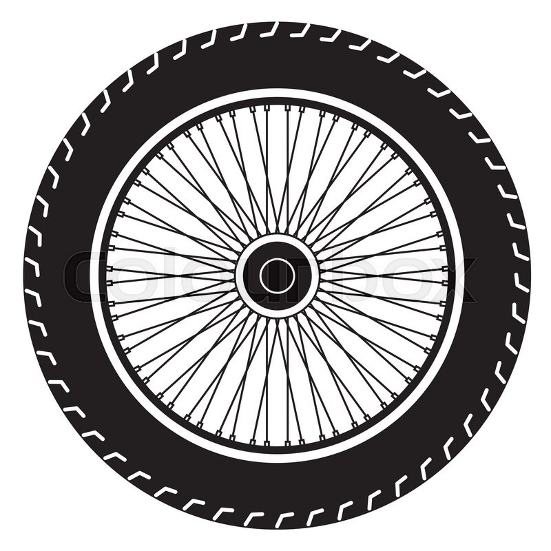 Image of wheel vector isolate on white   Stock Vector   Colourbox