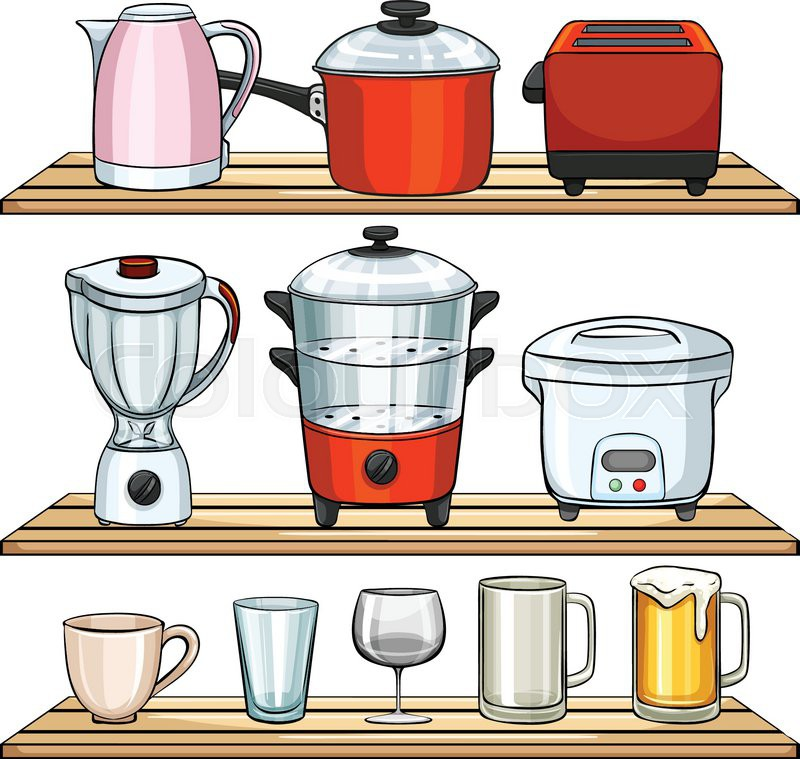 Different kind of kitchen appliances | Stock Vector | Colourbox