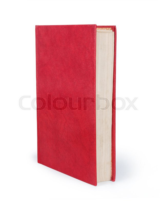 Blank vertical book cover template with pages in front side standing ...