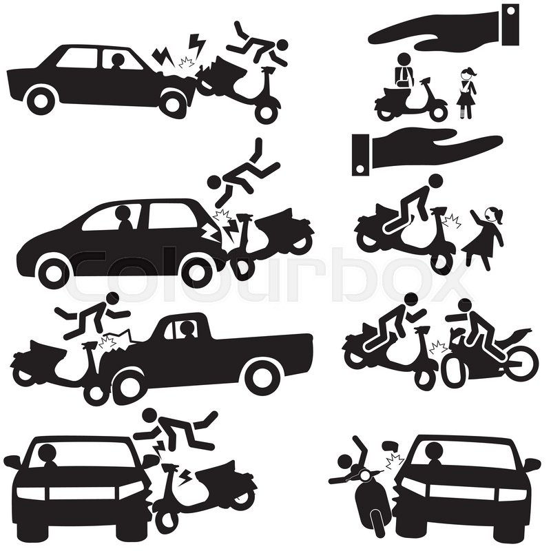 Motorbike Insurance Vector 13126016 on auto accident