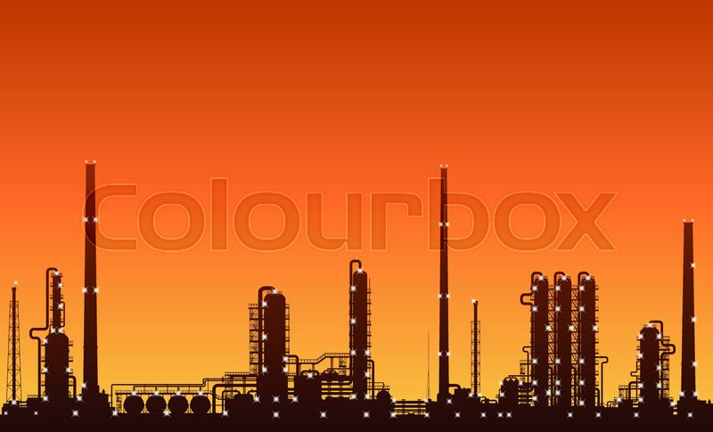 13144317-silhouette-of-oil-refinery-or-c