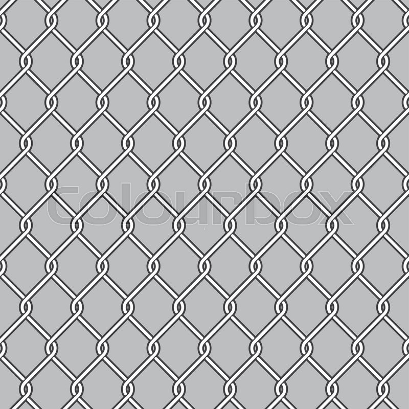 Chain Link Fence, Wire Mesh | Stock Vector | Colourbox