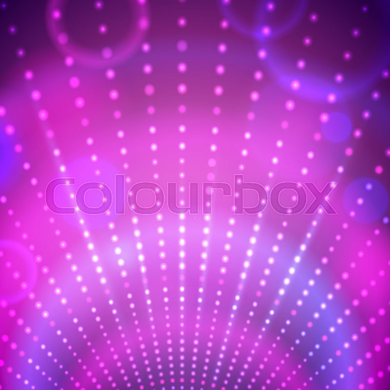 Vector Abstract Background With Disco Lights