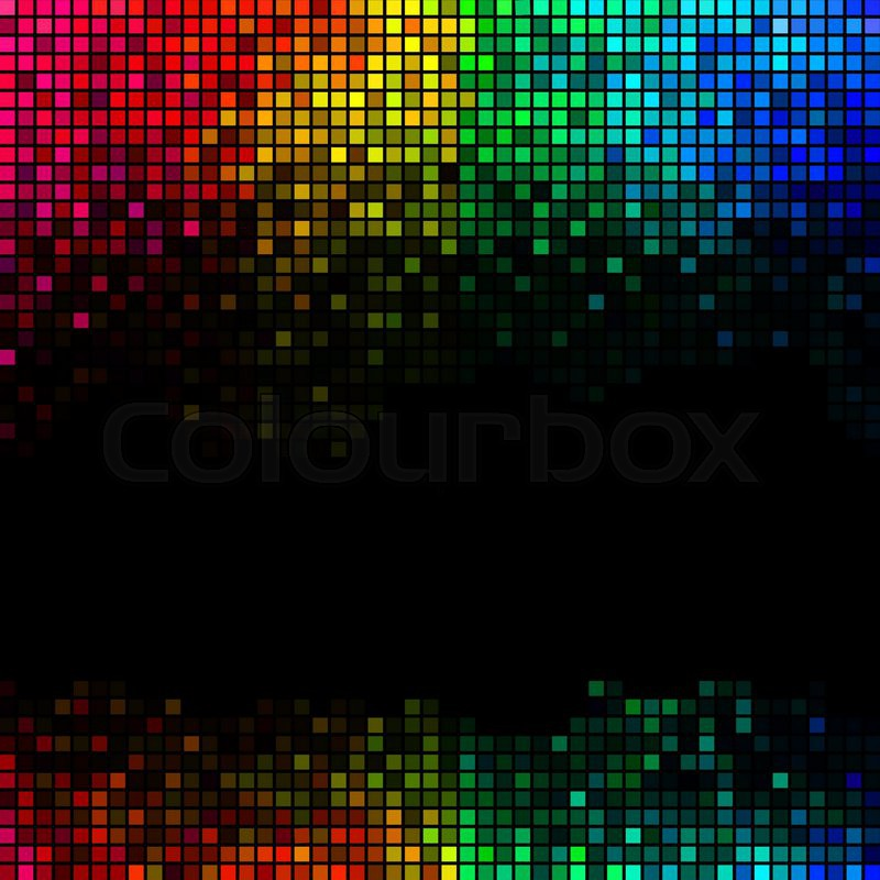 Multicolor Abstract Lights Disco Stock Vector