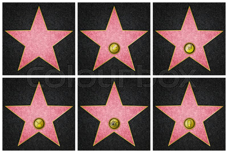 blank hollywood marble stars from hollywood boulevard stock photo