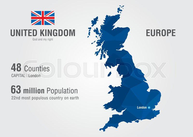 United Kingdom World Map England Map Stock Vector Colourbox