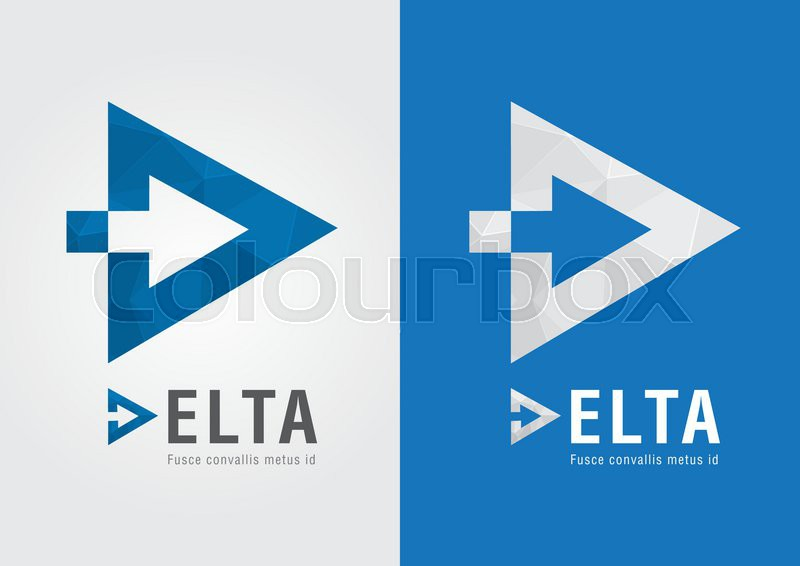 D Delta Symbol For Your Business Success Moving Forward Stock