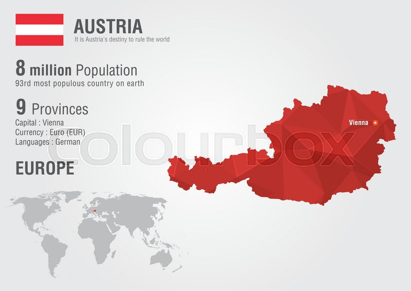 Austria world map with a pixel diamond texture world geography austria world map with a pixel diamond texture world geography vector gumiabroncs Choice Image