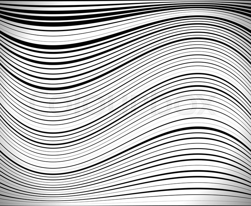 Horizontal Lines Stripes Pattern Or Background With Wavy Curving Simple Wavy Pattern