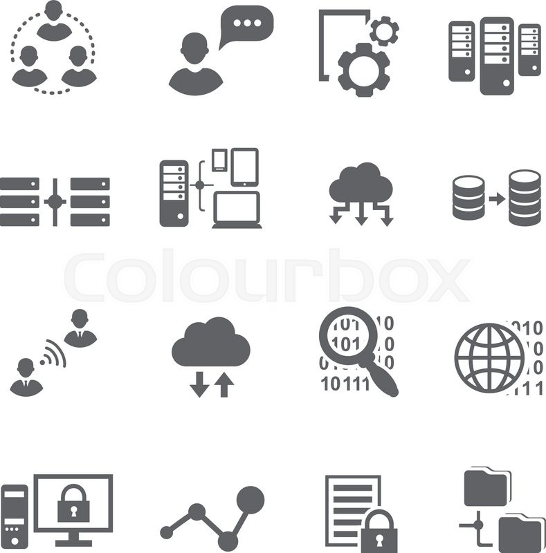 big data icon set  data analytics