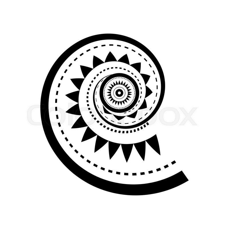 Maori Tattoo Design Stock Photos: Maori Style Spiral Tattoo Design