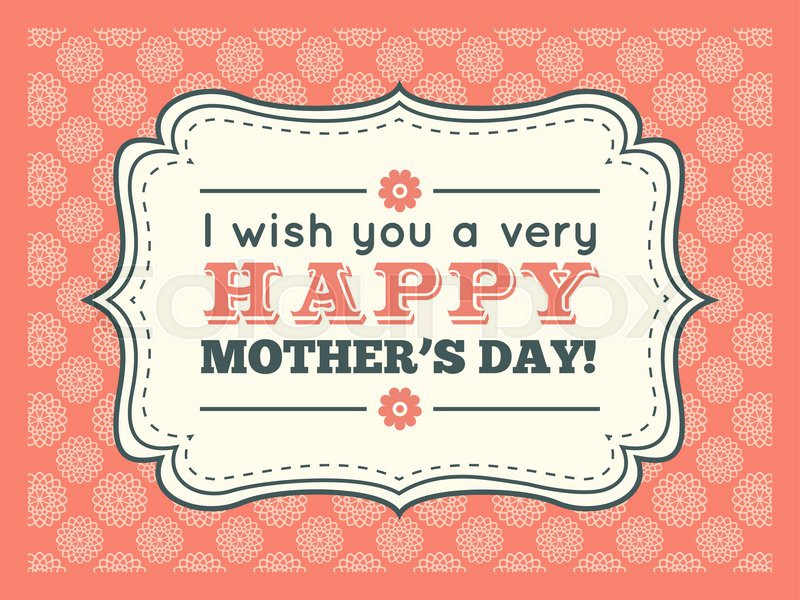Happy Mothers day. Typography letter font type. Editable for happy ...