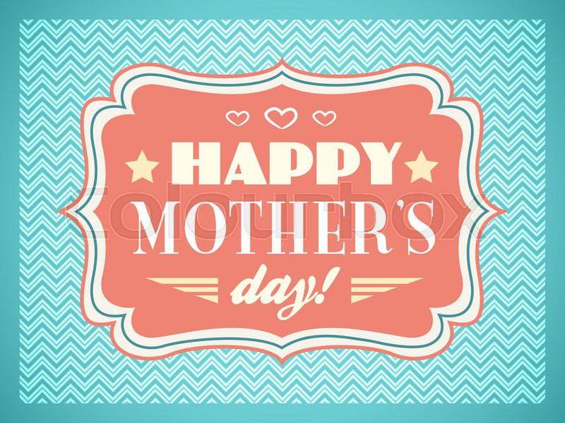 Happy Mothers Day Typography Letters Font Type