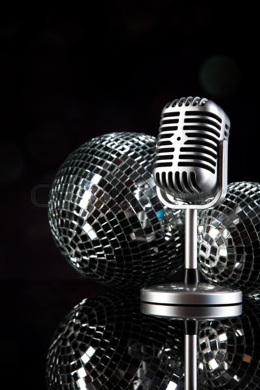 Music background, microphone, music saturated concept, stock photo