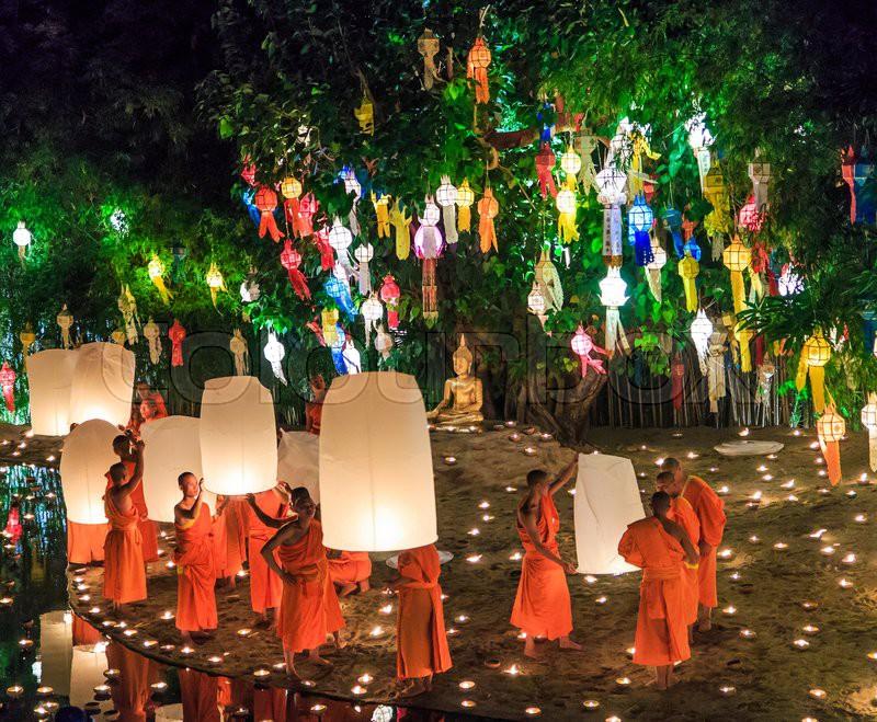 Chiang Mai Thailand November 17 Loy Stock Image
