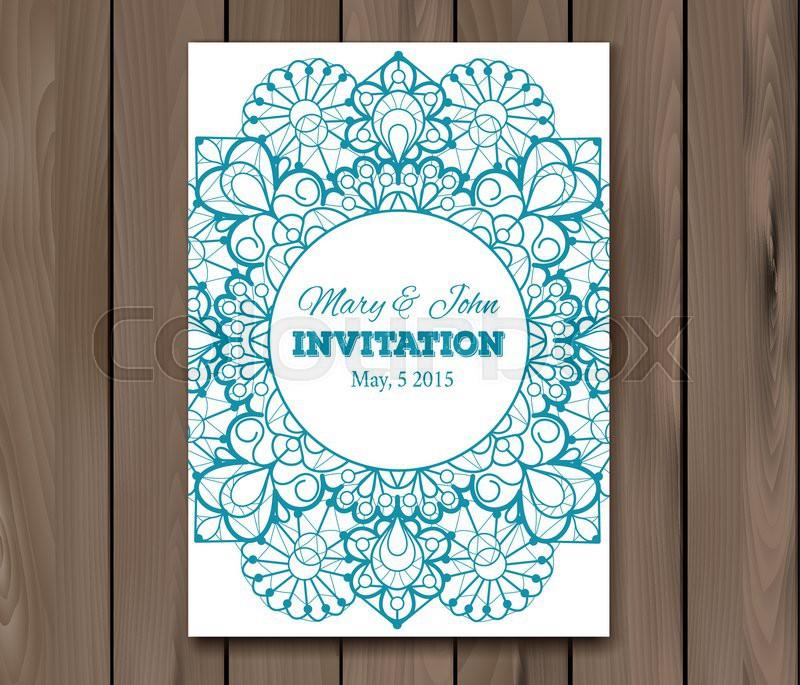 Wedding invitation card template vintage lace design eps 10 stock vector of wedding invitation card template vintage lace design eps 10 stopboris Choice Image