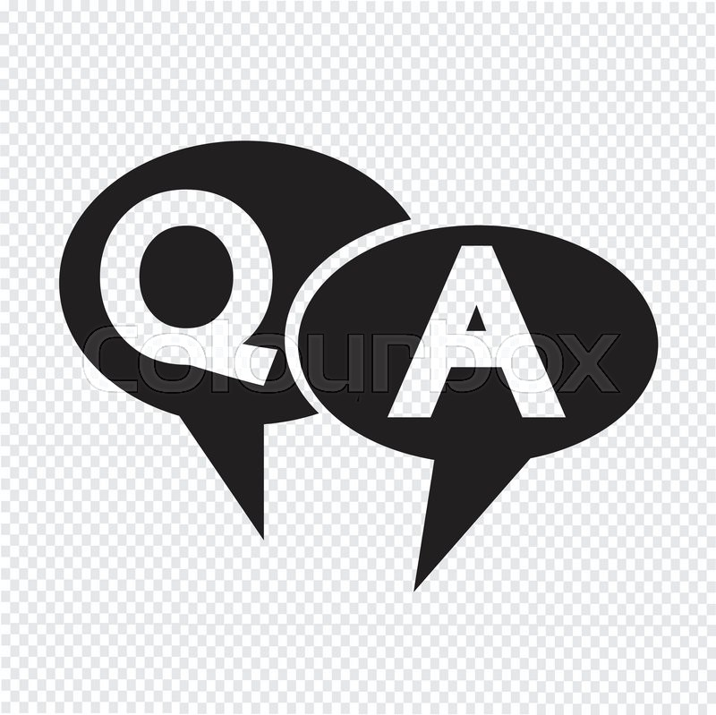 Q&A symbol ,Question answer icon | Stock vector | Colourbox