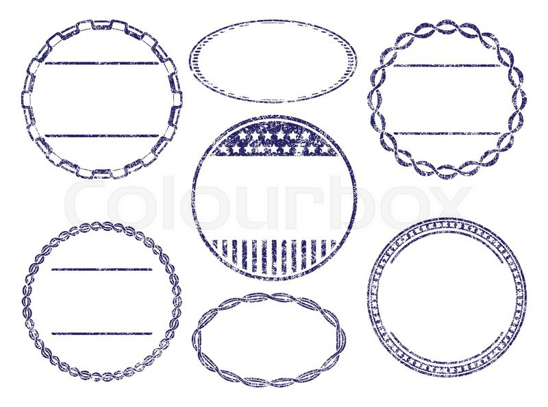 set of seven grunge rubber stamps templates stock vector colourbox