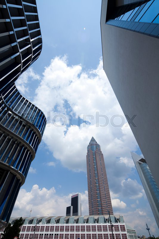 Modern business building, natural colorful tone, stock photo