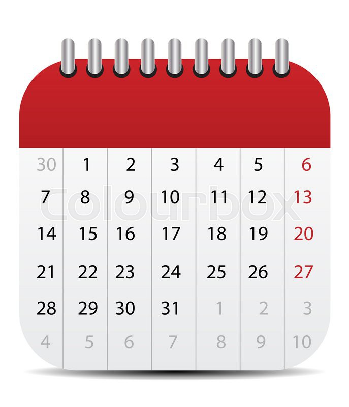 Calendar Icon Isolated On White Mobile Style Editable Stock Photo Colourbox