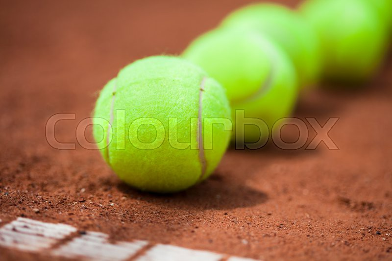 Sport, Tennis racket and balls, stock photo