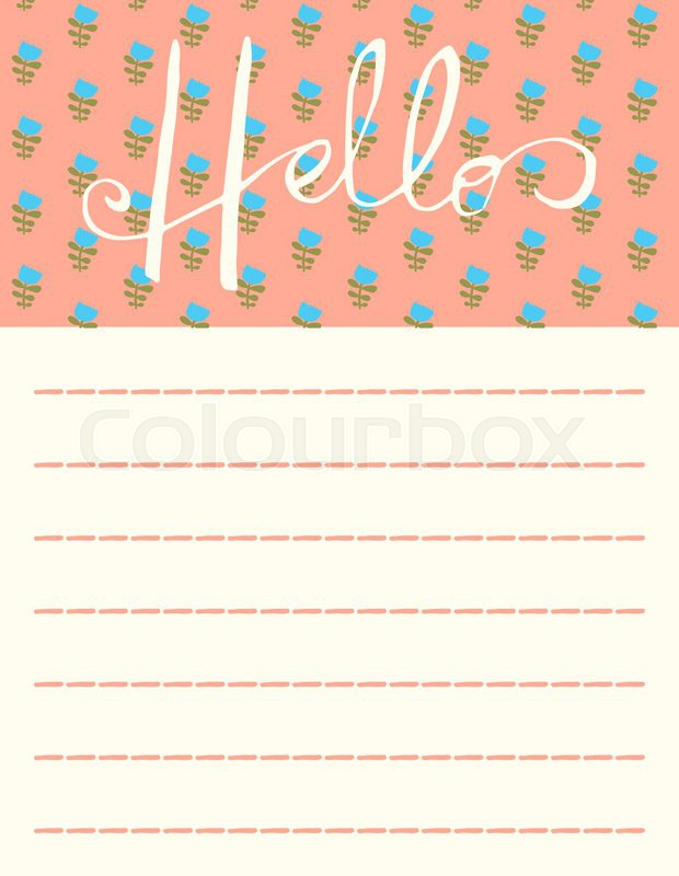 Cute Note Diary Blank Post It Stickers Memo Pad | Stock Vector