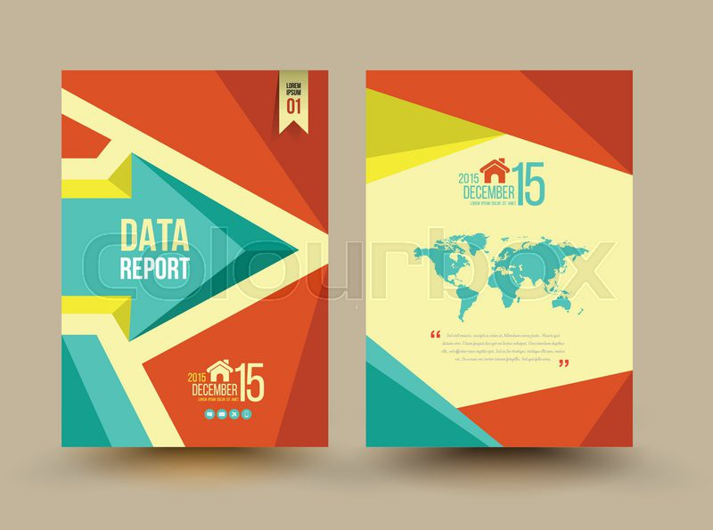 Vector Brochure Template Design Business Graphics Brochures Used - Brochure template design