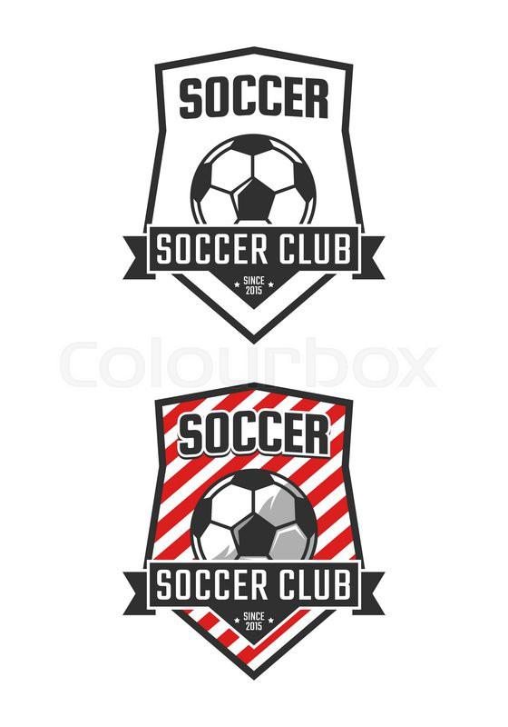 Soccer Club Logo Template Vector Stock Vector Colourbox