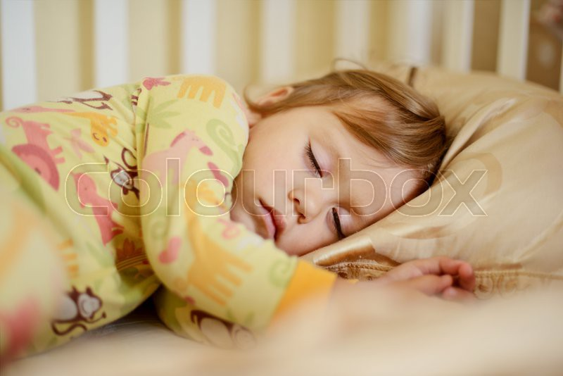 Sweet dreams of the toddler sweet girl, stock photo