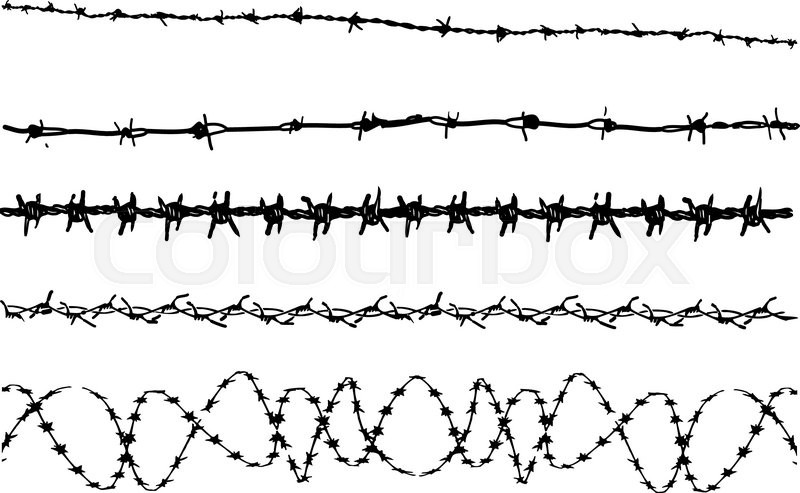 Barbed Wire elements 3 - 5 vector barbed wire graphic elements ...