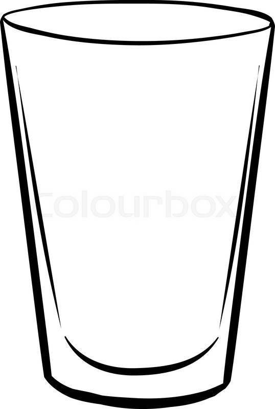 Single glass with no drink inside | Stock Vector | Colourbox