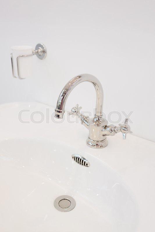 Luxury water sink in bathroom , stock photo