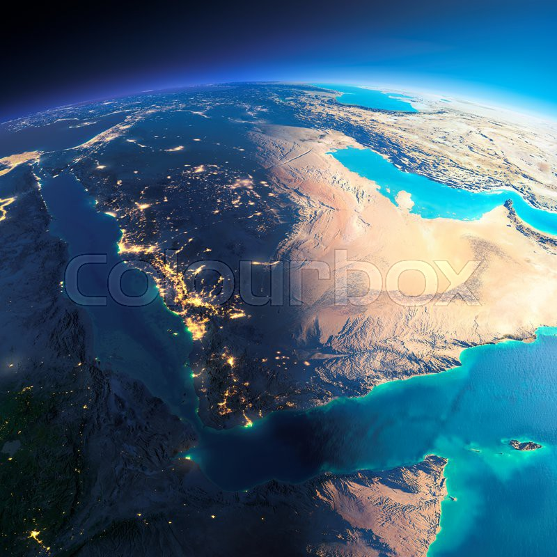 Highly detailed planet earth night with glowing city lights gives highly detailed planet earth night with glowing city lights gives way to day the boundary of the night day saudi arabia gumiabroncs Choice Image