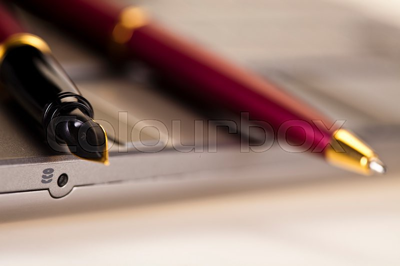 Business accessories, Pen and ballpoint, stock photo