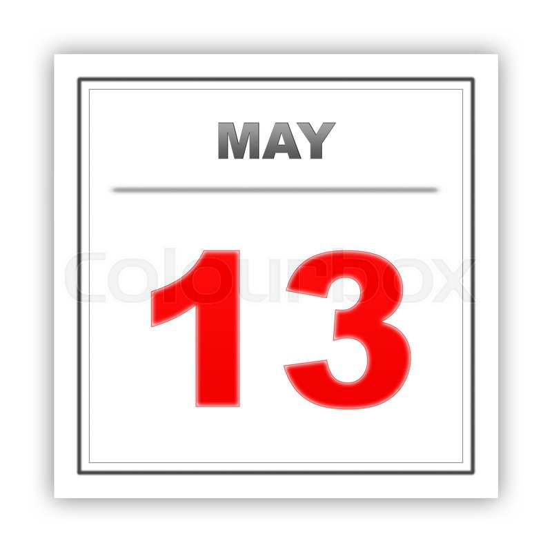 May 13 Day On The Calendar 3d Stock Photo Colourbox