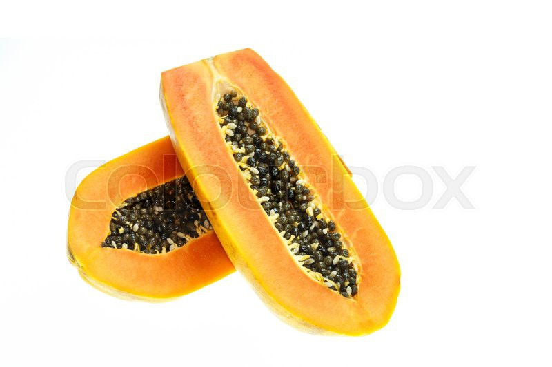Stock image of 'Thai papaya isolated on white background'
