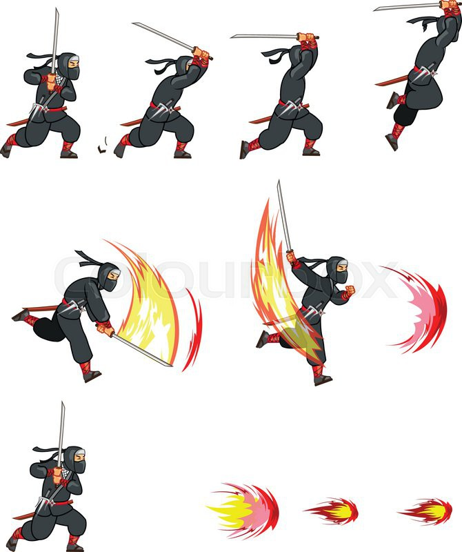 2d game character animation sprite vector colourbox
