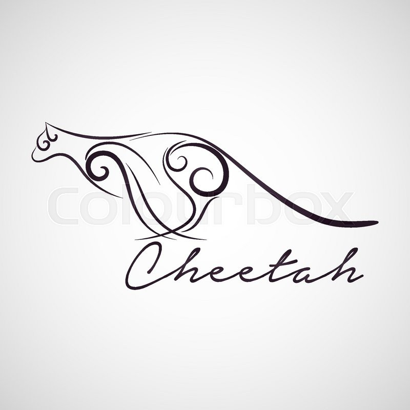 cheetah logo vector stock vector colourbox cheetah logo vector stock vector