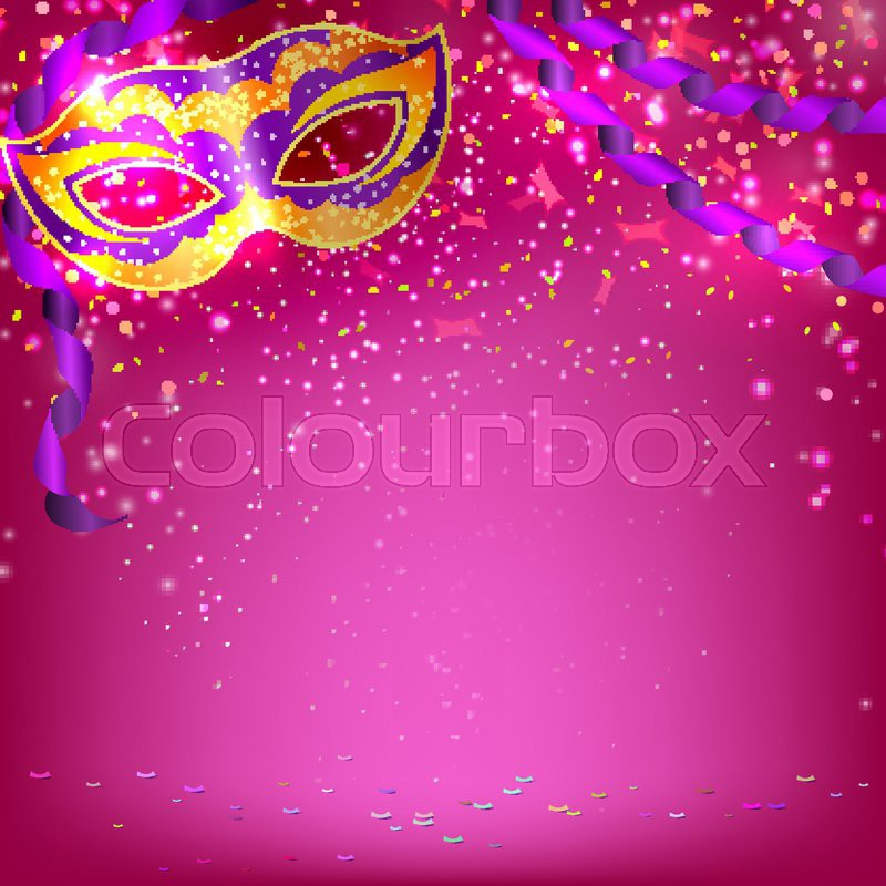 Pink Banner With Theatrical Carnival Stock Vector Colourbox