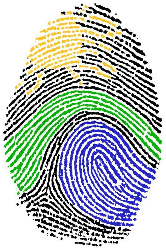 Fingerprint Stamp On White Paper For