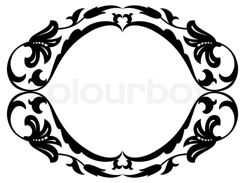 dekoration calligraph kartusche vektorgrafik colourbox. Black Bedroom Furniture Sets. Home Design Ideas