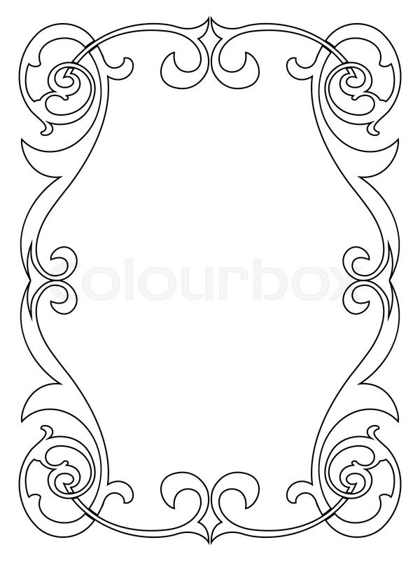klassisch silhouette umriss vektorgrafik colourbox. Black Bedroom Furniture Sets. Home Design Ideas