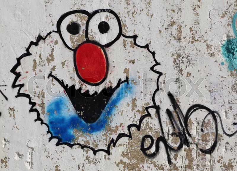 Sesamo street, Elmo, , graffiti, urban art, painting, street art ...