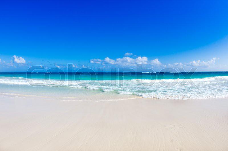 Beach and beautiful tropical sea, stock photo