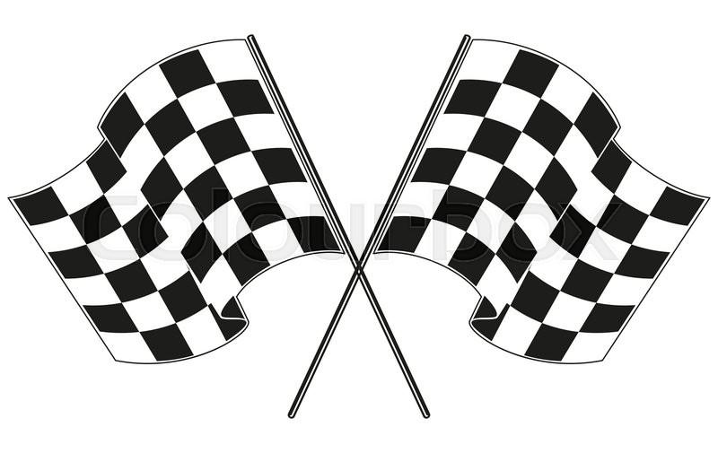 checkered flag racing stock vector illustration clip art stock rh colourbox com checkered flag vector graphics checkered flag vector art free