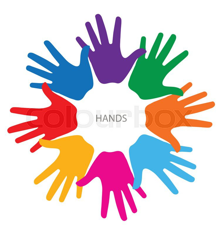 colorful hands vector illustration stock vector colourbox rh colourbox com hands vector free download hand vector free clip art