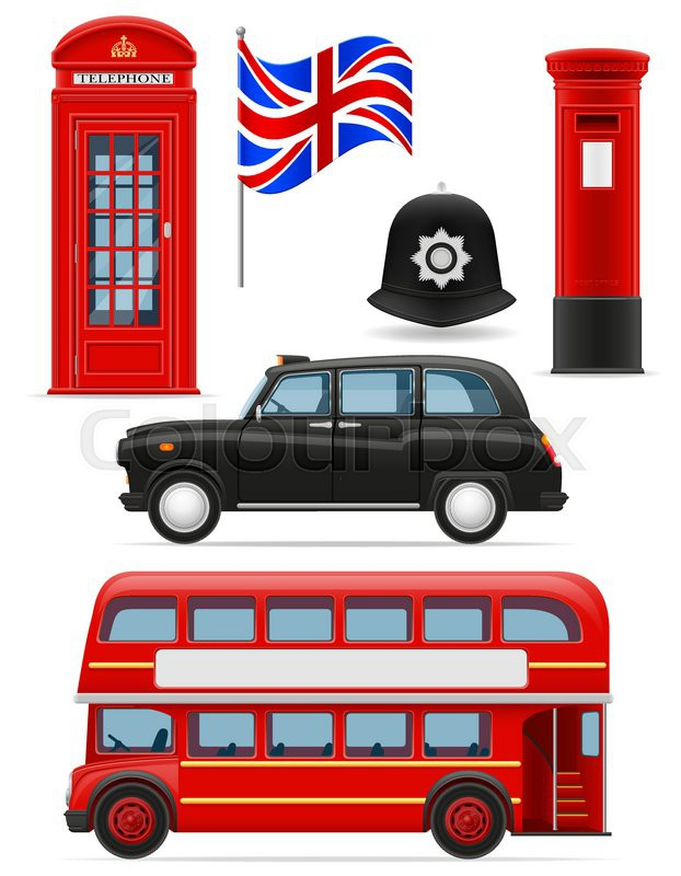 Vector illustration of london city 2 royalty free stock photography - London Set Icons Vector Illustration Isolated On White